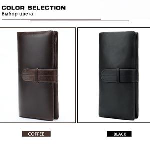 Image 5 - WESTAL portfel męska oryginalna skórzana portmonetka dla mężczyzn sprzęgła portfele męskie długa skórzana zipper portfel mężczyźni biznes portfel 6018
