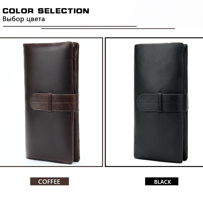 Image 5 - WESTAL wallet mens genuine leather purse for men clutch male wallets long Leather zipper wallet men business money bag 6018Wallets   -