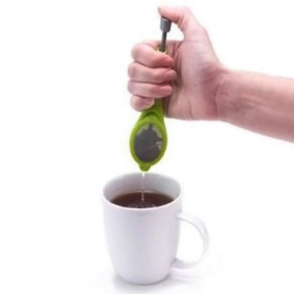 Tea Infuser Tea Strainer Filter Strainer Plunger Healthy Intense Tea Bag Plastic Tea&Coffee Strainer