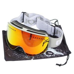 Image 5 - Manyetik çift katmanlar Lens kayak gözlüğü maskeler Anti sis UV400 Snowboard gözlüğü kayak gözlüğü gözlük erkekler için kadınlar kılıf ile lens