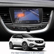 Écran de protection en verre pour Opel Grandland X 2017, Film d'affichage de style de voiture, Navigation GPS, contrôle d'écran LCD