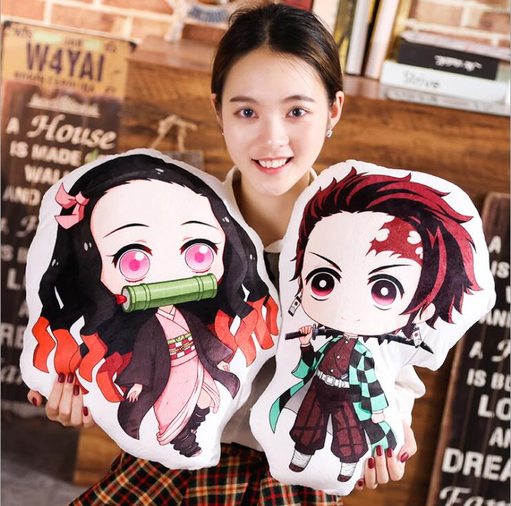 Demon Slayer Kimetsu No Yaiba Kamado Nezuko Plush Toys Stuffed Plush 20-45cm Pillow #2594 For Kids Boys Children Birthday Gift