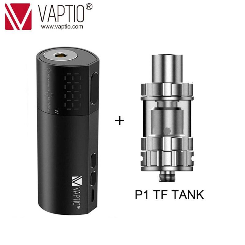 【Flash DEAL】100W E Cigarette Vape Mod Vaptio VEX 100 Box MOD Suppor 21700/20700/18650 Vape Battery 510 Thread Atomizer 0.15-3ohm