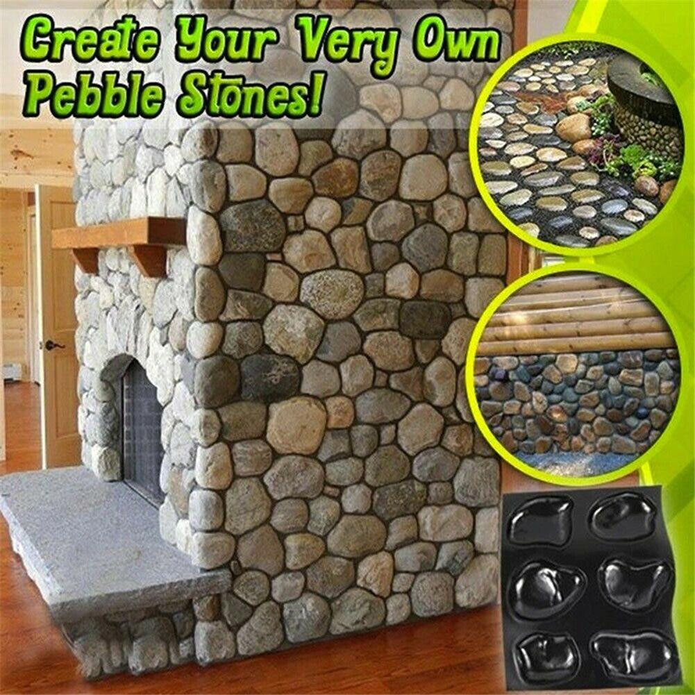 Casts Master Pebbles Concrete Mold Step Stones Plaster Mold Cobblestones Mould Plastic UD88