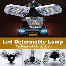 6000LM E27 LED Bulb 60W 80W 100W Led Deformable Lamp 220V Parking Garage Warehouse Waterproof Smart Sensor E26 Light 110V