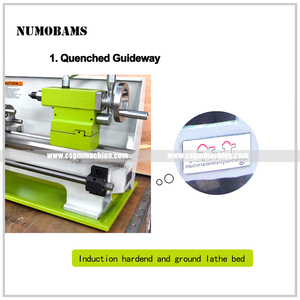 Image 3 - NUMOBAMS MT5 Spindle with 850W Brushless Motor & Quenched Bed WM210V Mini Metal Lathe Machine