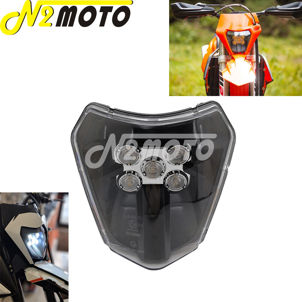 Enduro Dual Sport E8 Emark LED Headlight for KTM Husqvarna EXC XCF XCW TE TC FE 125 250 300 350 450 530 690 SMR XC-W Six Days
