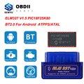 Сканер ELM327 V1.5 PIC18F25K80 OBD2 Bluetooth ELM 327 V1.5 1,5 для Android ODB2 считыватель кодов OBD 2 OBD2 автомобильный диагностический инструмент