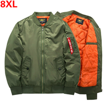 5XL 6XL 7XL 8XL Plus Size Men Fashions Bomber Jacket Motorcy