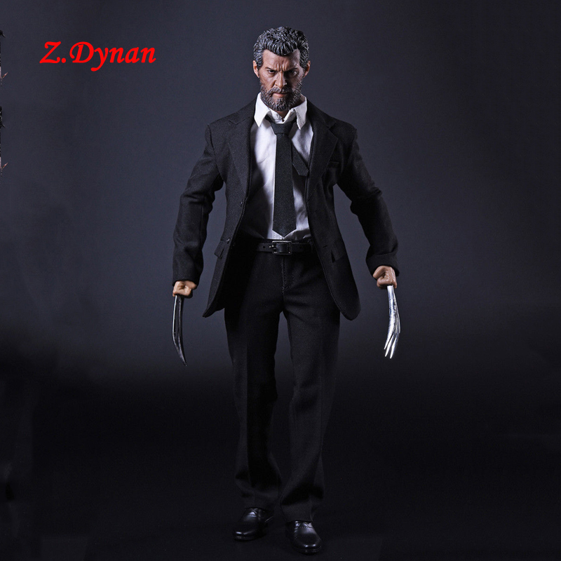 X-man Wolverine Logan 1/6 Scale Male Business Suit Clothes Set Claws For 12 Inches Action Figures Bodies