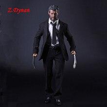 X-man wolverine logan 1/6 escala masculino terno de negócios roupas conjunto garras para 12 polegadas figuras de ação corpos