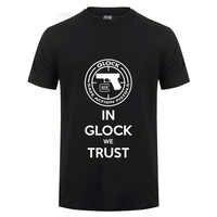 Glock Handgun logotipo EE. UU. T Shirt hombres Streetwear Casual manga corta cuello redondo algodón camiseta verano Camisetas Hombre