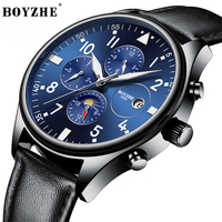 BOYZHE Fashion business Men's Watch Men Automatic Swiss Diesel Watches Man Luminous Waterproof dive Mechanical