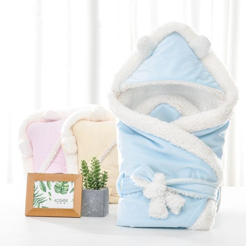 Baby Sleeping Envelopes Bag Coral Fleece Baby Swaddle Blanket Covering Winter Sleeping Bag Sleeping Child