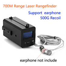 700 m range all weather mini laser rangefinder le033 500g recoil caça visão noturna escopo rangefinder com display oled