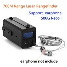 700M Range All Weather Mini Laser Rangefinder  LE033 500g Recoil Hunting Night Vision Scope Rangefinder with OLED Display