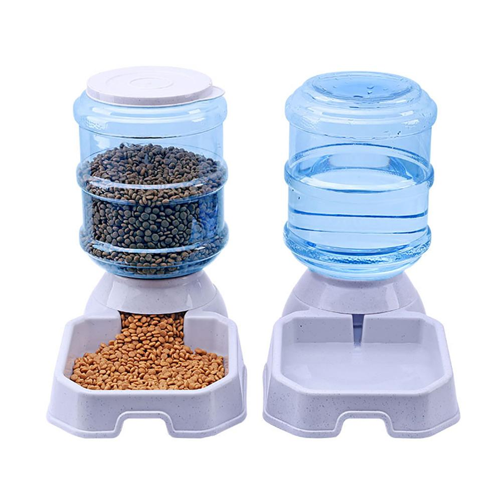 1Pc Practical 3.8L Automatic Pet Feeder Dog  Drinking Bowl Large Capacity Water Food Holder Pet Supply