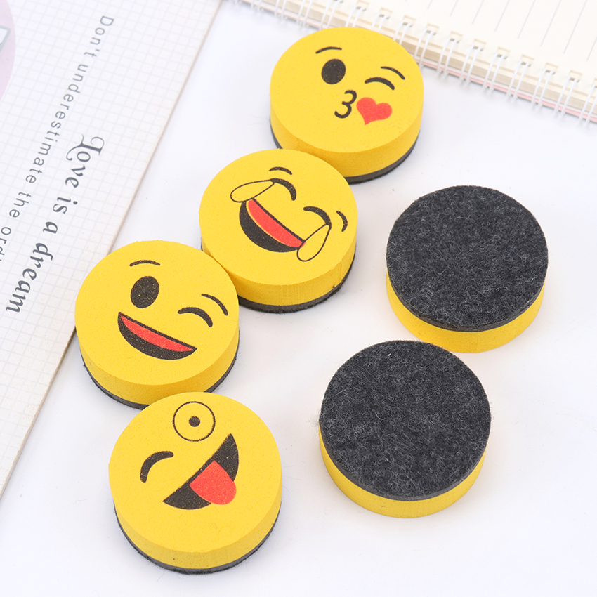 1PC Creative Cartoon Magnetic Whiteboard Wipe Office Learning Supplies Cute Board Sponge Chalkboard Erase