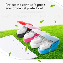 1PC Random Color Stapleless Stapler Book Paper Stapling Stapler Mini Portable No Staples School Office Supplies