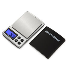 1pc Mini Digital Scale 100/200/300/500/1000g 0.01/0.1g High Accuracy Backlight Electric Pocket Gram Weight For Jewelry(China)