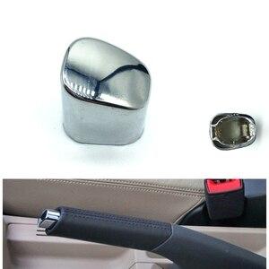 Car interior Parking HandBrake Lever Head Push Button Cover Chrome Decoration Shell For VW Polo CROSS 6RD 711 333 A 6RD711333A