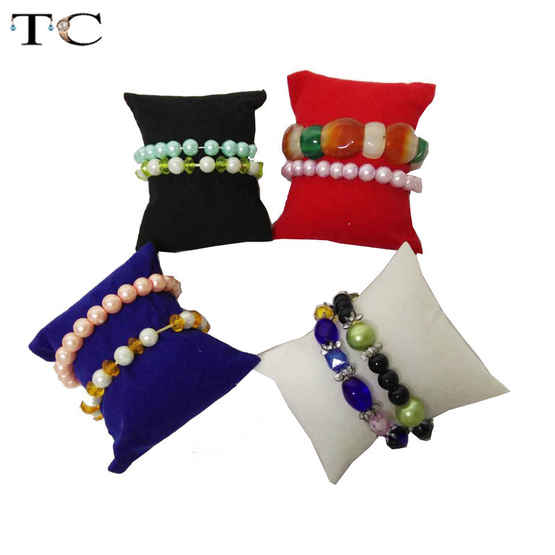 5pcs/lot Watch Pillow For Jewelry Display Bracelet Holder Chain Banger Chain Display Organizer Pillow Cushion Stand Box