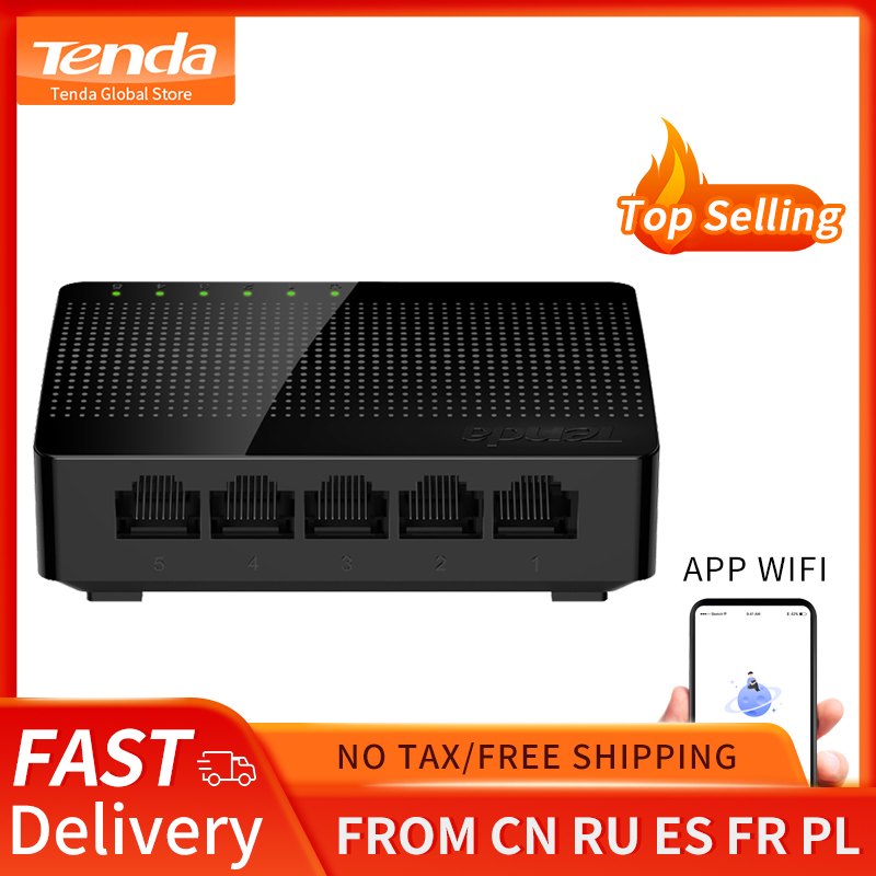 Tenda SG105 Gigabit Mini 5-Poort Desktop Switch Fast Ethernet Network Switch Lan Hub RJ45 Ethernet En Switching Hub shunt 1