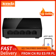 Tenda sg105 gigabit mini 5-port desktop switch rápido ethernet rede switch lan hub rj45 ethernet e interruptor hub shunt