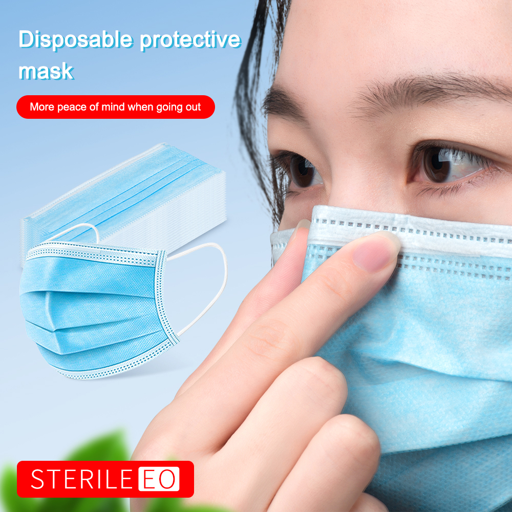 50Pcs/Lot Disposable Masks 3-layer Non-Woven Masks Mouth Face Mask Soft Mask In Stock Fast Ship