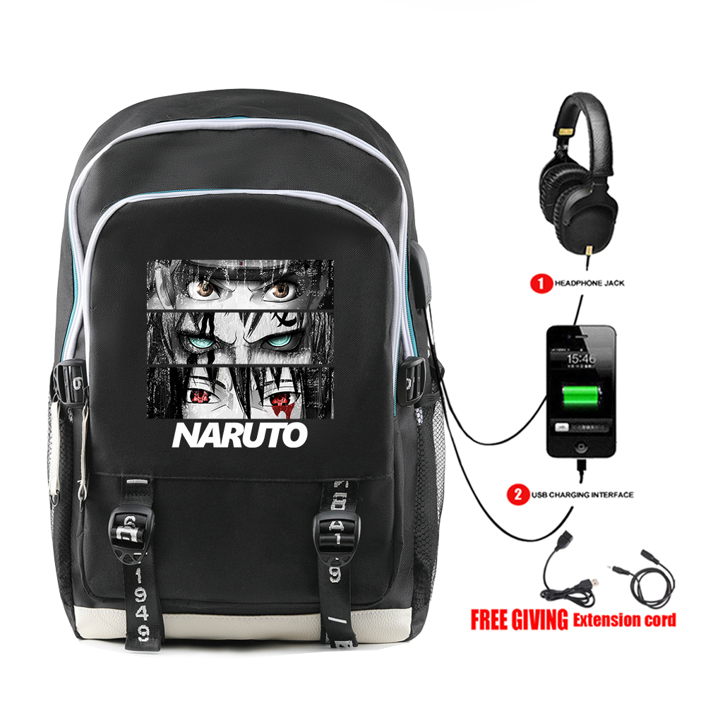 WAMNI NARUTO School Backpack Male Girl  Anime Harajuku Naruto Uzumaki Kawaii Bags Teenagers Kids Mochila Daily Backpack