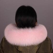 100% リアルフォックスファーの襟レディースナチュラル毛皮の襟リアルファーショールフォックス襟の毛皮 scraves