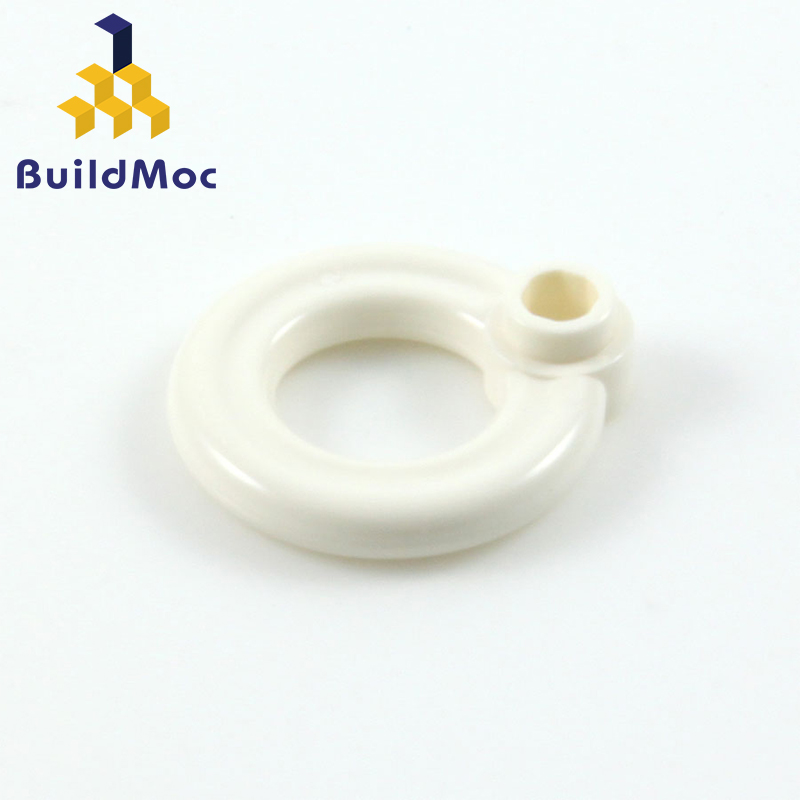 BuildMOC Compatible Assembles Particles 30340 Lifebuoy With Knob  Building Blocks Parts DIY LOGO Educational Gift Toys