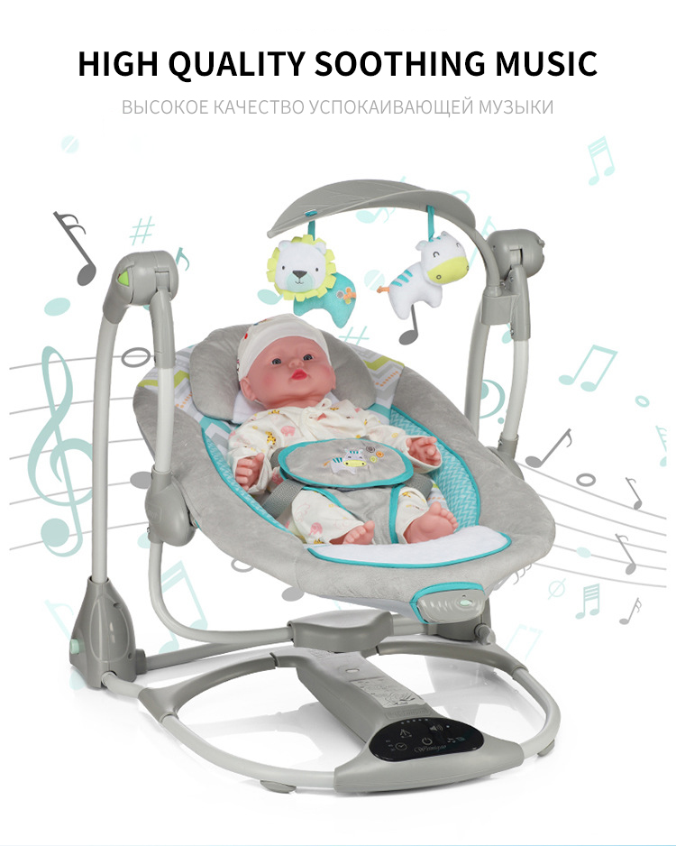 H320ecf68e84b4c3b923bd6de9dbe1a3bj Multi-function Baby Electric Swing USB Interface Baby Comfort Rocking Chair Cradle Baby Bouncer