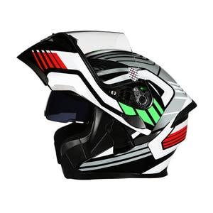 Image 1 - New Modular Motorcycle Helmet Flip up Capacete da Motocicleta Cascos Motorcycle Helmet Kask Bar Double Visors Men Racing Helmets
