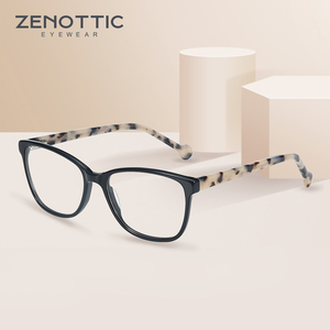 Image 2 - ZENOTTIC אצטט כיכר משקפיים מסגרות לנשים קוצר ראייה רוחק משקפיים אופטיים משקפי מסגרות מרשם משקפיים