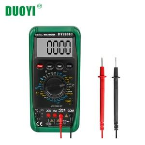 DUOYI DY2201C Цифровой мультиметр двигатель об/мин сопротивление напряжения автомобильный диод тестер цепи зажигания переключение Ом Вольт Ампе...
