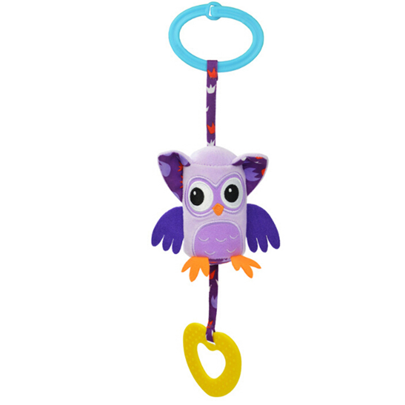 New Cute Baby Toys Rattles Toy Kids Soft Mouse Donkey Deer Plush Toy Animal Clip Baby Crib Bed Hanging Bells Toys For Stroller