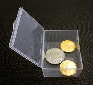 Image 5 - 50ピース/ロット小箱長方形透明なプラスチックボックスストレージコレクションコンテナボックスケースねじ用コイン5.5*4.3*2.2センチメートル