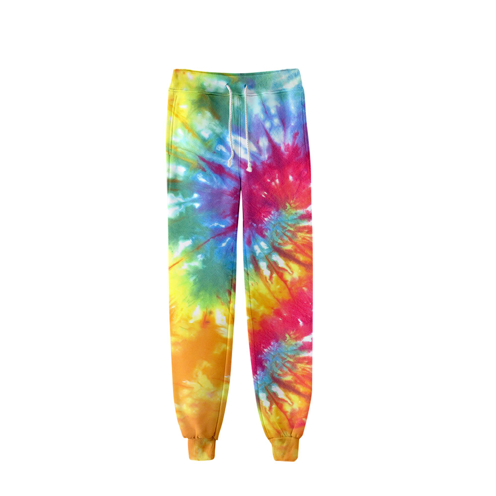 Joggers Pants Men Women 2019 Hip Hop Fitness 3D Tie Dye Print Trousers Pants Sweatpants Personality Spiral Colorful Oversized