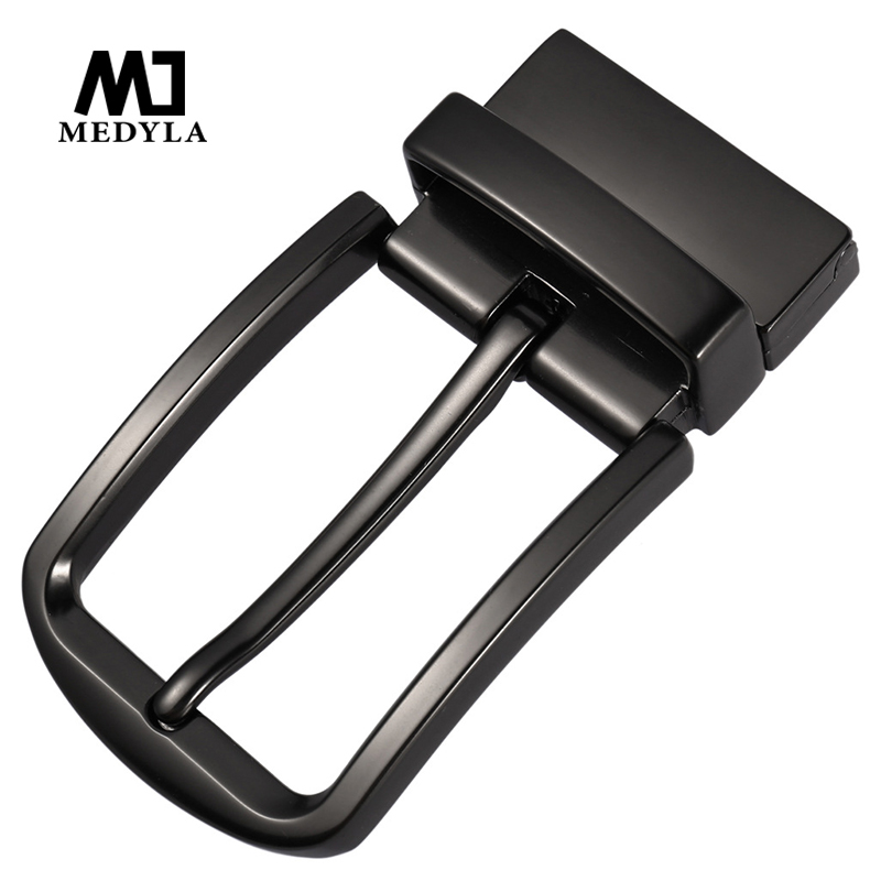 MEDYLA Fashion Belt Buckle For Men Premium Matte Black Sturdy Metal Belt Buckle Rotating Buckle For 3.4cm Belts Men Accessories