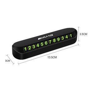 Image 2 - Placa temporal para estacionamiento de coche, pegatina de número de teléfono, estilismo para Benz AMG W108 W124 W126 W140 W168 W169 W176, 1 Uds.