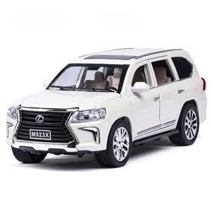 Image 1 - 1:24 Diecast Lexus lx570 Off road pojazdu Suv symulacja aluminiowy Model samochodu 6 drzwi dźwięk światło samochód z napędem Pull Back zabawki dla dzieci ozdoby