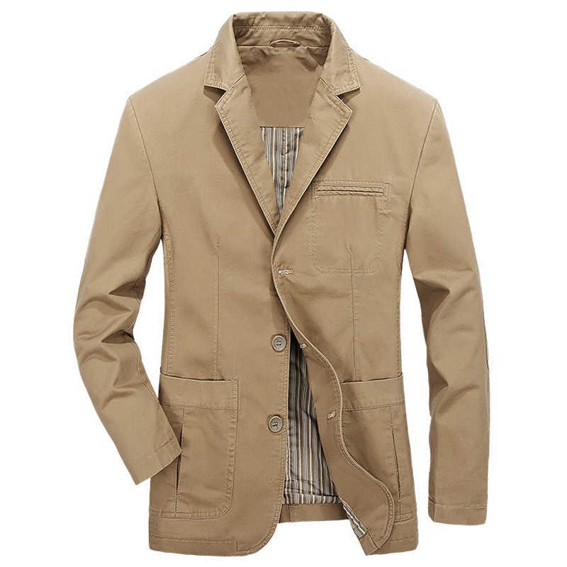 유럽 스타일의 남성 정장 재킷과 코트 캐주얼 얇은 카키색 스웨이드 코트 패션 봄과 여름 남자 streetwear 유럽 a733
