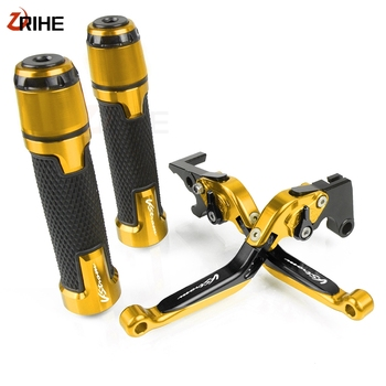 For Suzuki DL650/V-STROM 2004-2010 Aluminum Motorcycle Accessories Adjustable Foldable Brake Clutch Levers and Handlebar Grips