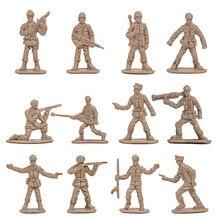 360 pçs/set 1/72 soldados militares de plástico estatueta figuras do exército modelo accs