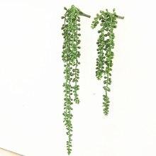 Decoración de jardín para el hogar, cadena de plantas y flores artificiales para pared, plantas suculentas para colgar en la pared, accesorios de arreglo floral