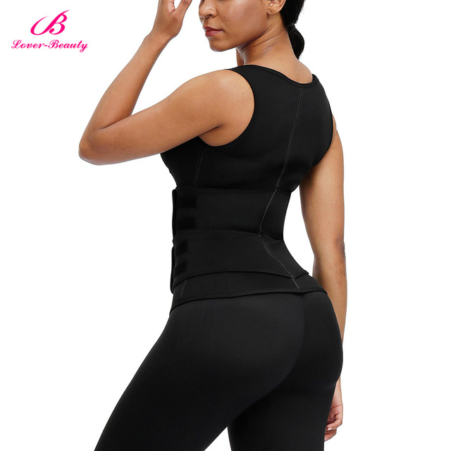 Lover Beauty Women Neoprene Waist Trianer Vest Double Waist Belt Slimming Corset Sauna Sweat 9 Steel Boned Body Shaper 2