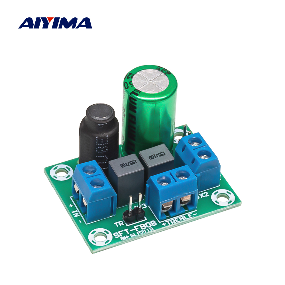 AIYIMA Adjustable Two Way Crossover HiFi Speaker Treble Bass  Audio Speaker Divider Filter DIY Home Sound Theater