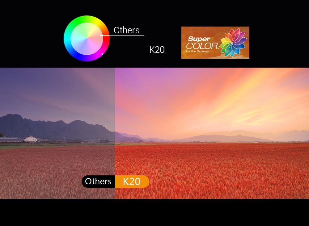 The contrast is higher than similar 1080P projectors.-Vivid Colors