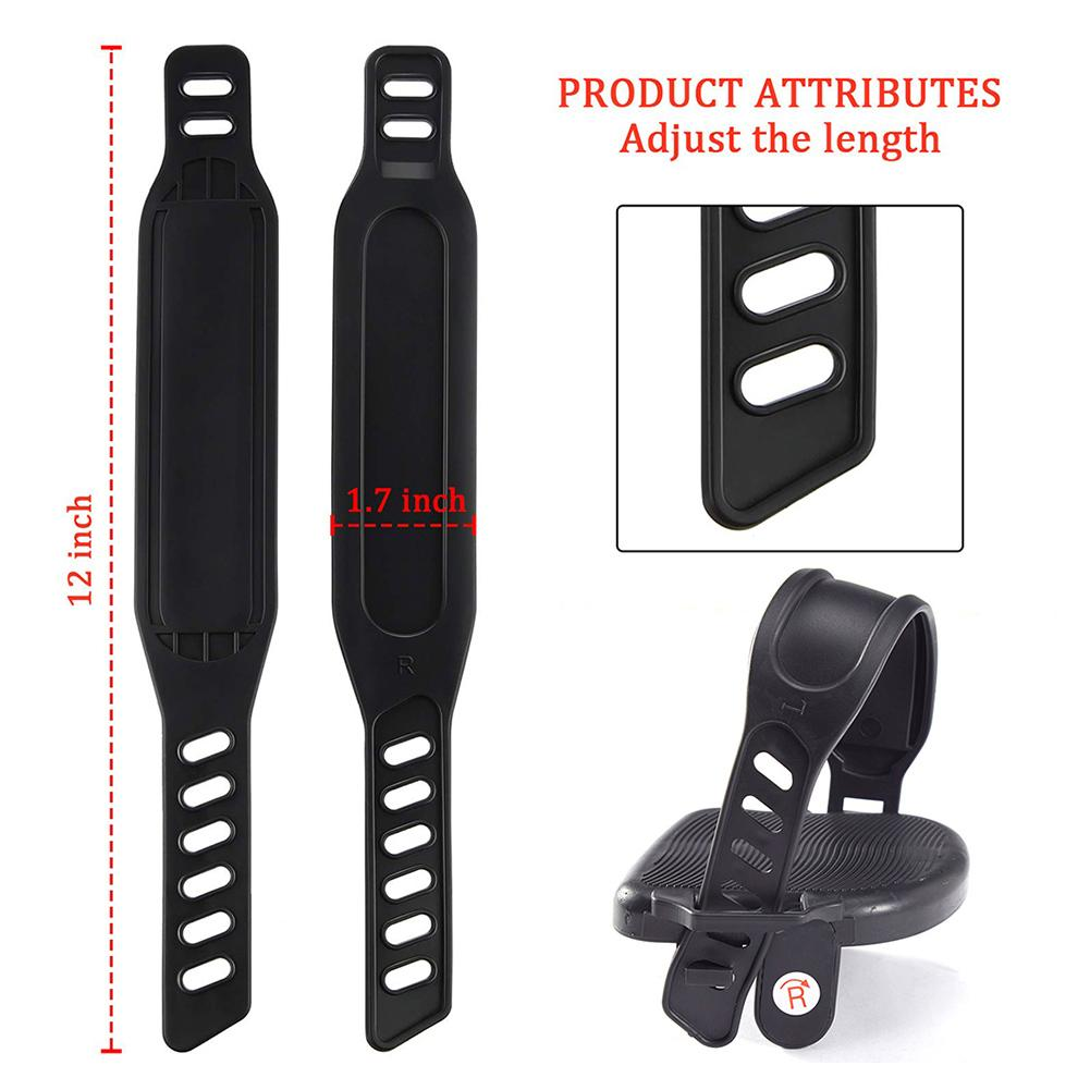 Купить с кэшбэком Exercise Bike Pedals with Adjustable Bicycle Widened Straps for Sports Cycling Home or Gym